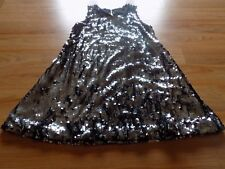 Girls Size 7-8 CWD Kids Fully Sequined Party Holiday Dress Black Charcoal Silver