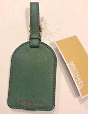 Michael Kors NWT $38 Jet Set Travel Saffiano Leather Luggage Hang Tag Moss Green