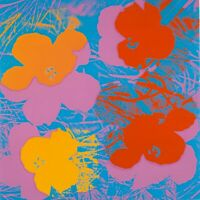 """ANDY WARHOL Pop Art Poster or Canvas Print """"Flowers"""" V2"""