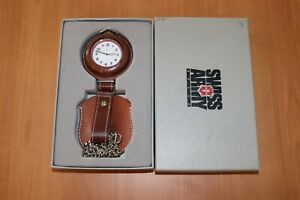 Victorinox Swiss Army Pocket Watch With Leather Pouch 24271