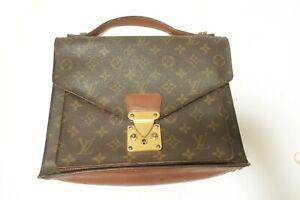 Authentic Louis Vuitton Monogram Monceau Hand Bag Briefcase  #10086