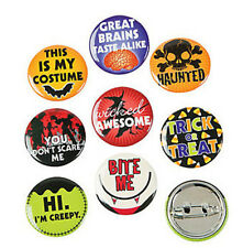 24  halloween BUTTONS witch vampire bag Gift Party Favor LOOT BAG TRICK OR TREAT