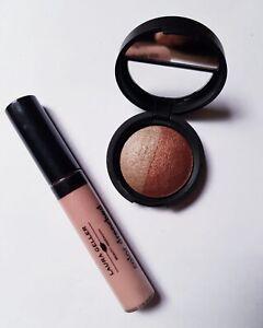 Laura Geller Stone   Terracotta Eyeshadow Duo & Sugar Cookie Lip Gloss New