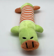 Fleece Squeaky Dog Toy Duck Puppy Squeaker Chew Toy Sound Stuffed Cat Toy