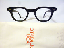 Vintage American Optical Arnel Style Hybrid in Black with Spear Shields 44-24