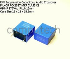 2 pezzi Condensatore Polipropilene 680nF 275V Ac PILKOR PCX2337 MKP X2 0,68uF