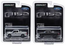 1:64 Greenlight *MAGNETIC & SILVER* 2015 Ford F-150 XLT Pickup Truck w/TOW HITCH
