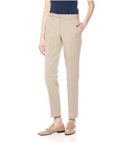 Theory Womens Tailored Trouser Beige Stone Double Stretch Pants Size 8 NEW T21