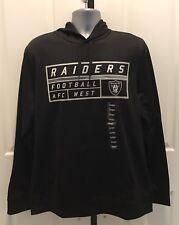 NFL OAKLAND RAIDERS FOOTBALL HOODIE MEDIUM BLACK