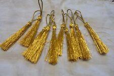 6 Nappine COL Oro Seta filo metallico CM 5+ 2,5  X DECORARE il NATALE