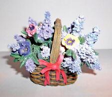 Ardleigh Elliott Lena Liu Pansies Music Box Basket Bouquets Collection # 75B