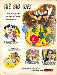 Original Vintage 1940s-  Gibbs toothpaste- Picture Post Mag Advert July 1947