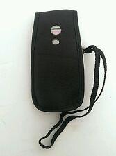 Panasonic VS6 Black Leather Style Flip Phone Case Cover w/ Belt clip