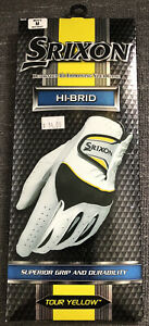 Srixon HI-BRID Tour Yellow Golf Gloves Mens M Reg Right Superior Grip Durabilit