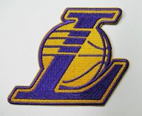 "Lot of (1) LA Los Angeles Lakers ""L"" 3.5"" X 3"" Iron On Embroidered Patch # 114"