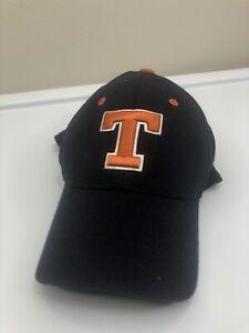 Texans Hat. Blue Football Baseball Sports Cap - Orange Steer Bull Horns Logo T