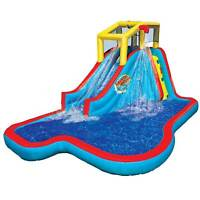 Banzai Slide N Soak Splash Park Inflatable Outdoor Kids Water Park Play Center