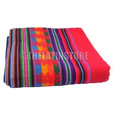 Throw-Peruvian Aguayo ( Manta) Ethnic colorful- Red