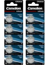 10 x Camelion CR 2032 3V Lithium Batterie Knopfzelle 220mAh - 2 x 5er Streifen