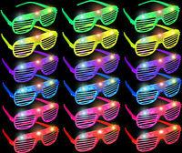 18 PCS LED Shutter Glasses Light Up Shades Flashing Rave Wedding Party Birthday