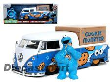 1 24 Cookie Monster W/1962 VOLKSWAGEN Pickup Bus Sesame Street Jada VW Kombi