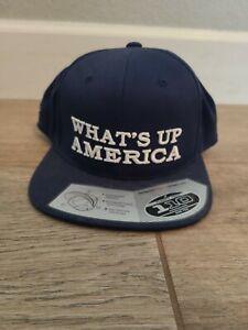 Diesel Brothers What's Up America Flat Bill Hat Navy Snapback Diesel Dave