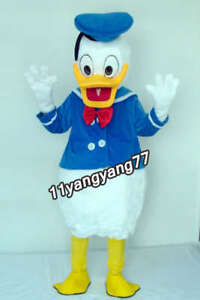2020 Donald Duck Mascot Costume Cartoon Character Adult Fancy Dress Party Suit