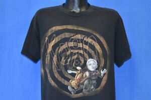 Y2K KORN SEE YOU ON THE OTHER SIDE ALBUM 2005 BABY DISTRESSED METAL t-shirt L