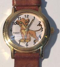 Disney Lion King Simba Watch Wristwatch Novelty Timex Paw Print Leather Band