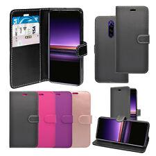 Funda para Sony Xperia 1 Billetera Abatible Cuero PU De pie Cubierta Del Teléfono Bolsa de ranura de tarjeta