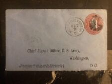 1881 USA Mechanic Burch Cancel Cover To Signal Office US Army Washington DC