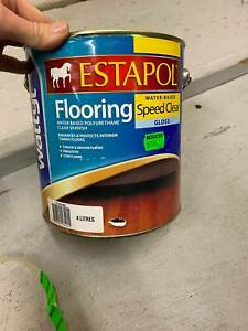Estapol Speed Clear Gloss Water Based Flooring Varnish 4L Polyurethane Parquetry