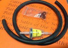"3 Ft Fuel Line hose 1/4"" in line Fuel filter replaces Briggs & Stratton, Kohler"