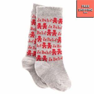 LE BEBE Baby Knee Highs Socks 1M Intarsia Melange Effect Two Tone