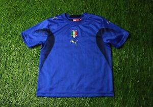 ITALY TEAM 2006/2007 FOOTBALL SHIRT JERSEY HOME PUMA ORIGINAL BASIC YOUNG S