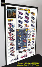 Custom TYCO Wall Art - TYCO 1985 CATALOG Cars  11W x 17T Hi QA POSTER