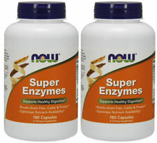 2 X Super Enzymes by Now Foods Digestive Digestion Health 2 X 180=360 Capsules