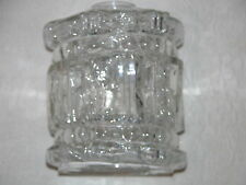 RARE + VINTAGE WHITE FRIARS STYLE HAND MADE CLEAR GLASS LIGHT SHADE