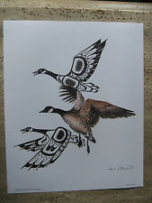 "Sue Coleman, ""Canada Geese"" - Canadian First Nations Inspired Art Print"
