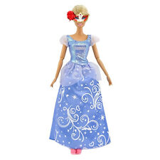 Fashion Princess Party Blue Sequin Dress Wedding Clothes Gown For Barbie Doll&