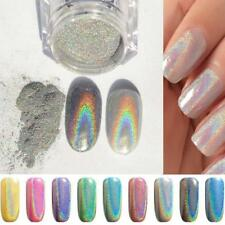 1g Nail Art Holographic Rainbow Holo Pigment Mirror Chrome Powder 1 Box. A7C4