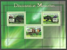 GUINEA 2007 DINOSAURS & METEORITES PREHISTORIC ANIMALS SPACE M/SHEET MNH