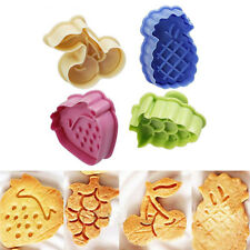 4pcs Fruit Shape Plunger Cookie Cake Mold Cutter Decorating Baking Sets