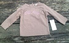 NWT Old Navy Girls Shirt Brown and Pink Size 3-6 Months