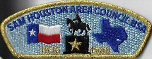 Sam Houston Area Council-BSA 1836-1986 CSP GMY Bdr. [MX-11313]