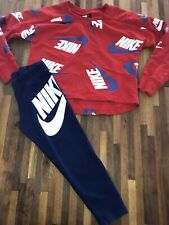 Nike Girls Jumper Leggings Set Outfit Age 3-4 Great Condition