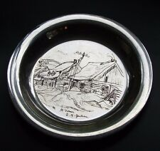 """A.Y.JACKSON ST.URBAIN ENGRAVED 8"""" STERLING SILVER PLATE WELLING MINT CANADA 1971"""