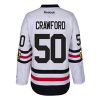 Corey Crawford Chicago Blackhawks NHL White 2017 Winter Classic Premier Jersey
