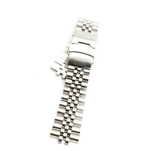 22mm hollow end links jubilee stainless Steel bracelet for Seiko SKX007 watches