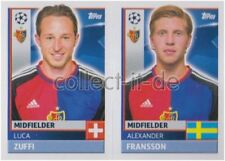 Champions League 16/17 - Sticker - BAS10+11 - Luca Zuffi+Alexander Fransson